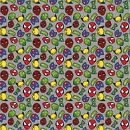 Gewebt - Dapper21 15805-063 Katoen bedrukt superhelden grijs