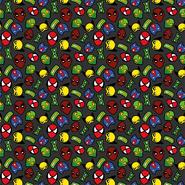 Graue Stoffe - Dapper21 15805-068 Katoen bedrukt superhelden donkergrijs