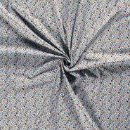 Interieurstoffen - Dapper21 15806-003 Katoen bedrukt skulls lichtblauw