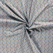 Tricot katoen - Dapper21 15806-003 Katoen bedrukt skulls lichtblauw
