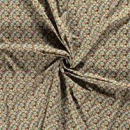 Hobbystof - Dapper21 15806-026 Katoen bedrukt skulls groen