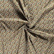 Interieurstoffen - Dapper21 15806-026 Katoen bedrukt skulls groen