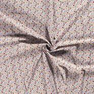 Interieurstoffen - Dapper21 15806-050 Katoen bedrukt skulls wit