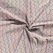 Witte / creme stoffen - Dapper21 15806-050 Katoen bedrukt skulls wit
