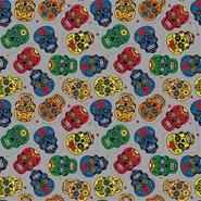 Multi stoffen - Dapper21 15808-063 Katoen bedrukt skulls grijs/multi