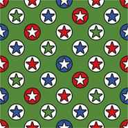 Grün - Dapper21 15810-025 Katoen bedrukt sterren groen