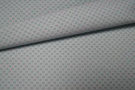 Katoen, polyester, elastan - KN21 17550-320 Stretch blokjes mint
