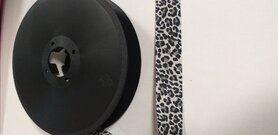 Band - Biasband panterprint zwart/grijs (250-27)