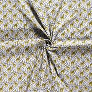 Lichtgrijs - NB21 15803-061 Katoen giraffe dierenprint lichtgrijs