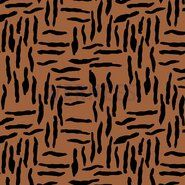 By Poppy - ByPoppy21 8437-011 Oil skin Zebra abstract rost