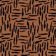 Tas - ByPoppy21 8437-011 Oil skin zebra abstract roest