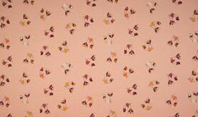 Tricot stoffen online - KC1575-013 Tricot fancy fox dusty pink