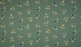 Tricot stoffen online - KC1575-023 Tricot fancy fox dusty green