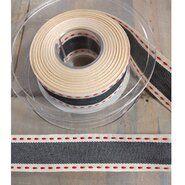 Sierband* - Sierband vintage stitch grijs 25mm (30036-0025) op=op