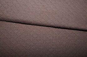 Geweven katoen - KN21 0889-110 Gestepte katoen bruin
