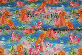 Kledingstoffen - Stenzo21 17711 Tricot digitaal princess/pony multi