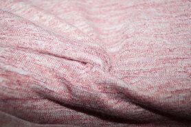 Polyester en elastan - KN 15554-822 Fijn gebreid koraal gemeleerd