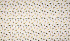 Baumwollstoffe - KC0523-050 Baumwolle icecream weiß