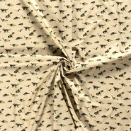 Baumwollstoffe - NB21 15799-027 Katoen dino's groen