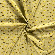 Baumwollstoffe - NB21 15799-034 Katoen dino's oker
