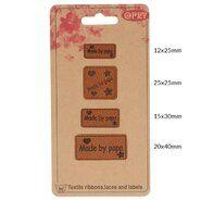 Diversen* - Opry skai-leren labels made by papa (35521)