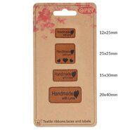 Diversen* - Opry skai-leren labels handmade with love (35521)