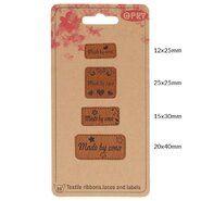 Diversen* - Opry skai-leren labels made by oma (35521)