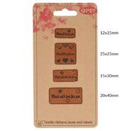Diversen* - Opry skai-leren labels made with love for you (35521)