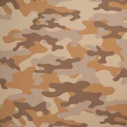 Bruine stoffen - KN21 17506-098 Travel camouflage camel/bruin
