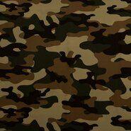 Bruine stoffen - KN21 17506-213 Travel camouflage bruin