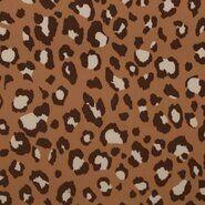 Beige stoffen - KN21 17508-098 Travel panterprint beige