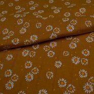 KnipIdee stoffen - KN21 17665-570 Hydrofiele tricot daisy bloem oker