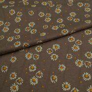 KnipIdee stoffen - KN21 17665-960 Hydrofiele tricot daisy bloem grijs