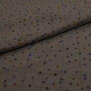 Jersey - KN21 17667-950 Musselin-Jersey sprinkle dots grau