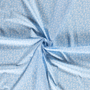 Halloween - Dapper21 15818-003 Baumwolle Skulls hellblau
