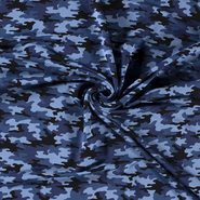 Broek - NB21 16551-008 French Terry camouflage blauw