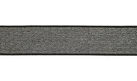 Gummi - Elastiek lurex zilver/grijs 4 cm (XET17-561)