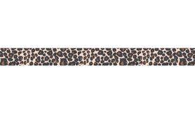 Biasband* - XBT27-103 Elastisch biasband panterprint bruin/beige