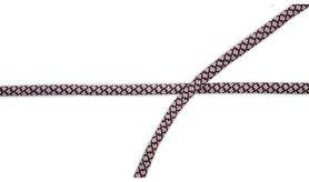 Kordel* - XCR23-131 Elastisch koord poederroze/grijs