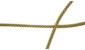 Kordel* - XCR23-183 Elastisch koord zwart/geel