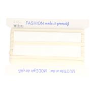 1 cm elastiek - Schouderband antislip off-white/ecru glad (98727)*