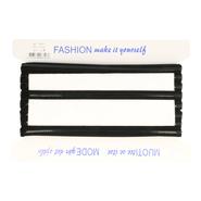 1 cm elastiek - Schouderband antislip zwart glad (98727)*
