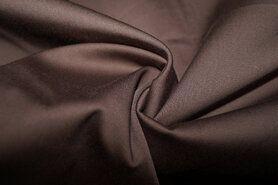 Bruine stoffen - KN 0748-110 Satin stretch donkerbruin