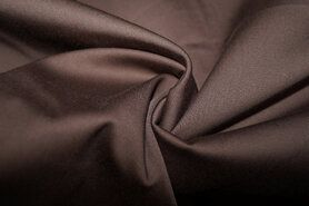 KnipIdee stoffen - KN 0748-110 Satin stretch donkerbruin