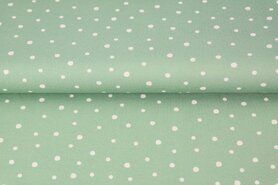 Groene stoffen - Stenzo21 17638-10 Tricot dots lime