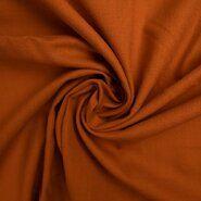 Orange Stoffe - KN 0591-456 Stretch linnen oranje