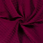 Neutraler Baumwollgewebe - NB21 16248-018 Musselin wattiert bordeaux