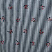 Gestreifte - KN21 17999-609 Seersucker Blumen blau/rot