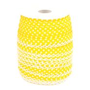 Met kant band - Biasband met kantje stipjes geel/wit 71486-645*