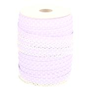 Band met sierrandje - Biasband met kantje stipjes lila/wit 71486-187*